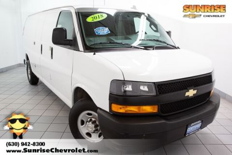 Certified Pre-Owned 2018 Chevrolet Express 2500 Work Van RWD 3D Extended Cargo Van
